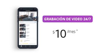 Grabación de video 24/7 $10/mes
