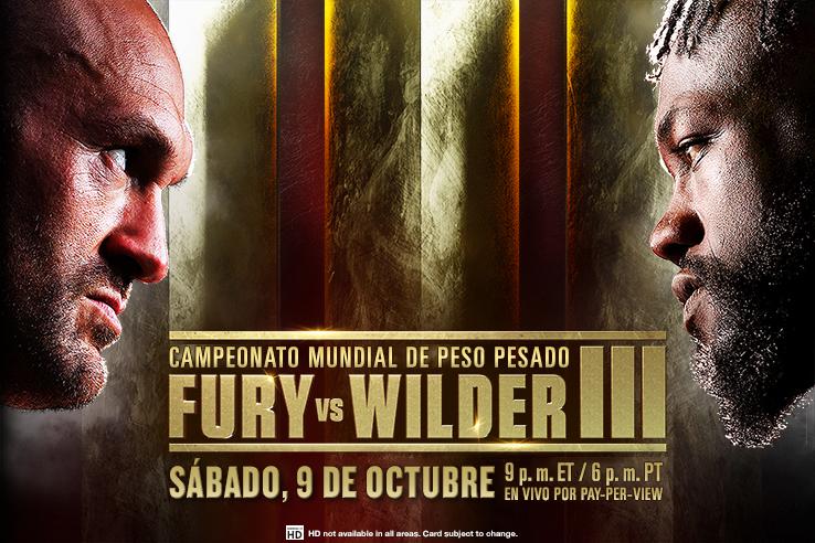 Fury vs. Wilder Boxeo en PPV - Sábado, 9 de octubre