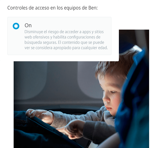 Controles de acceso en xFi for Families