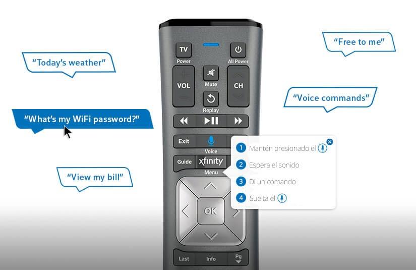 Control remoto por voz de X1 con comandos verbales