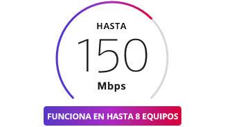 Internet de hasta 150 Mbps